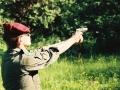 Trening strzelecki w czasie wspinaczki - ppor Wołkowicz charakterystyczne ułożenie dłoni w tamtym okresie tzw. filiżanka 1992 r.