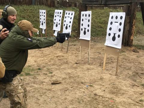 Szkolenie strzeleckie - broń krótka