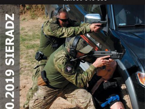 Plakat warsztaty strzelecko-taktyczne CQB