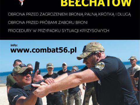 Plakat szkolenie Combat56 Bełchatów
